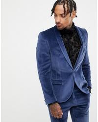 Blazer de terciopelo azul marino de Twisted Tailor