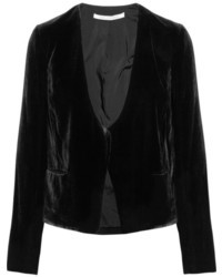 Blazer de terciopelo negro de Diane von Furstenberg