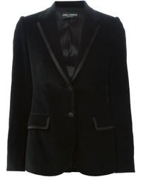 Blazer de terciopelo negro de Dolce & Gabbana