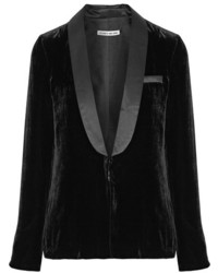 Blazer de terciopelo negro de Elizabeth and James