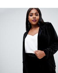 Blazer de Terciopelo Negro de Fashion Union Plus