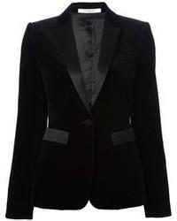 Blazer de terciopelo negro de Givenchy