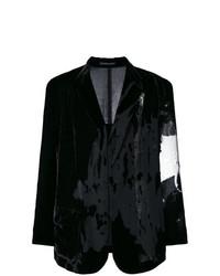 Blazer de Terciopelo Negro de Yohji Yamamoto