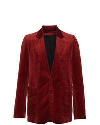 Blazer de Terciopelo Rojo de Ann Demeulemeester