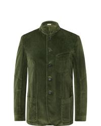 Blazer de terciopelo verde oliva de Massimo Alba