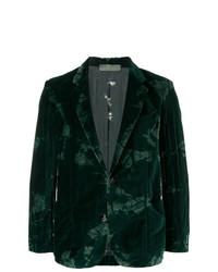 Blazer de terciopelo verde oscuro de Di Liborio