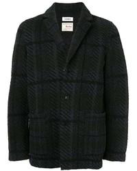 Blazer de tweed a cuadros negro de Coohem