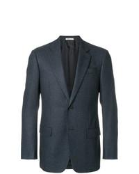 Blazer de tweed azul marino de Armani Collezioni