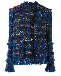 Blazer de Tweed Azul de MSGM