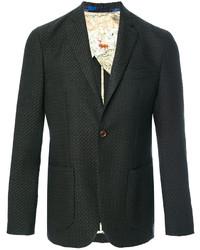 Blazer de Tweed en Gris Oscuro de Etro