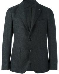 Blazer de Tweed en Gris Oscuro de Tagliatore