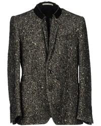 Blazer de tweed en negro y blanco
