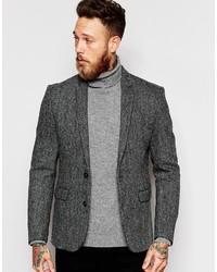 Blazer de tweed gris de Asos
