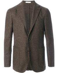 Blazer de Tweed Marrón de Boglioli