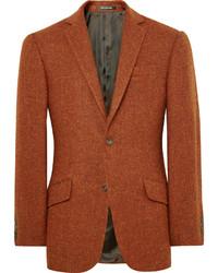 Blazer de tweed naranja de Richard James
