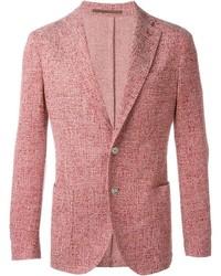 Blazer de tweed rojo