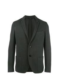 Blazer de tweed verde oscuro de Fendi