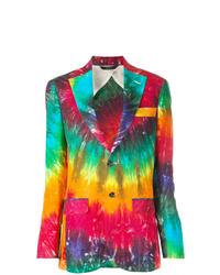 Blazer efecto teñido anudado en multicolor de R13