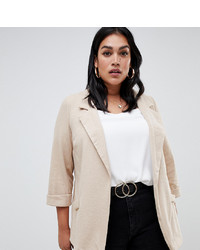 Blazer en beige de New Look Plus