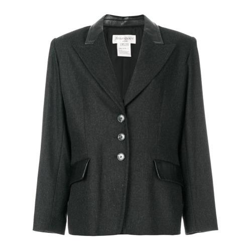 Blazer Gris Oscuro de Yves Saint Laurent Vintage