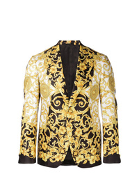 Blazer en negro y dorado de Versace