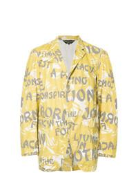 Blazer estampado amarillo de Comme Des Garçons Vintage