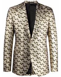 Blazer estampado dorado de Versace