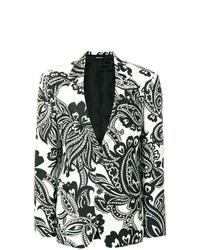 Blazer estampado en blanco y negro de Alexander McQueen