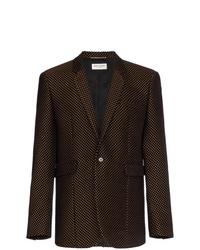 Blazer estampado en marrón oscuro de Saint Laurent