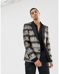 Blazer estampado en multicolor de ASOS Edition