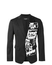Blazer estampado en negro y blanco de DSQUARED2