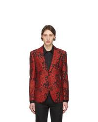 Blazer estampado rojo de Alexander McQueen