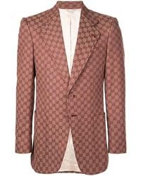 Blazer estampado rojo de Gucci