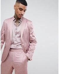 Blazer estampado rosado de ASOS DESIGN