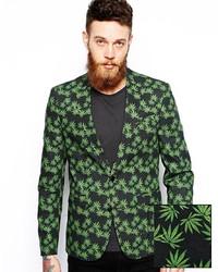 Blazer Estampado Verde de Asos