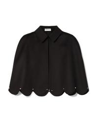 Blazer estilo capa negro de Valentino