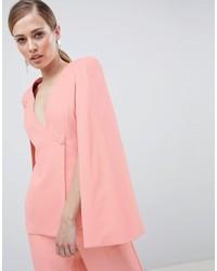 Blazer estilo capa rosado de Lavish Alice