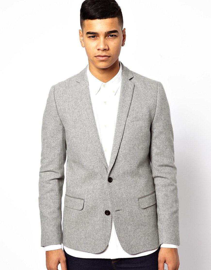 cei mai buni adidași culori delicate Cele mai ieftine Blazer gris de Minimum, €118 | Asos | Lookastic España