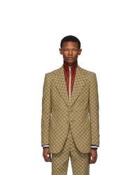 Blazer marrón claro de Gucci