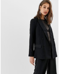 Blazer negro de Warehouse
