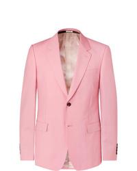 Blazer rosado de Alexander McQueen