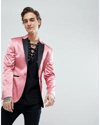 Blazer rosado de ASOS DESIGN