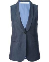 Blazer sin mangas azul marino de Societe Anonyme