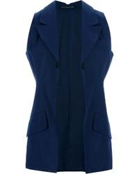 Blazer sin mangas azul marino de Yohji Yamamoto