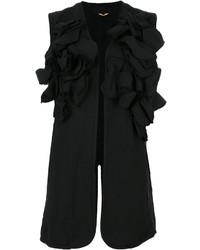 Blazer sin mangas bordado negro de Comme des Garcons