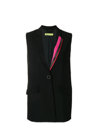 Blazer sin mangas negro de Versace Jeans