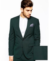 Blazer verde oscuro de Asos