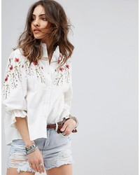 diseño profesional descuento mejor valorado última moda Comprar una blusa bordada blanca de Asos: elegir blusas ...