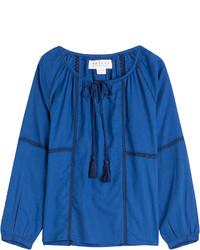 Blusa campesina azul