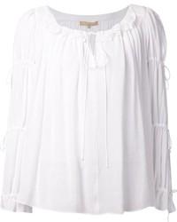 Blusa campesina blanca de Michael Kors